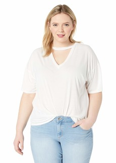 RACHEL Rachel Roy Women's Plus Size Necklace Tee