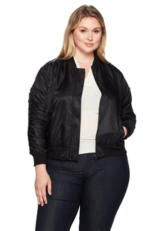 RACHEL Rachel Roy Women's Plus Size Nylon Bomber Jacket
