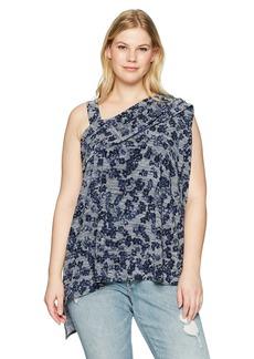 RACHEL Rachel Roy Women's Plus Size One Shoulder Floral Top