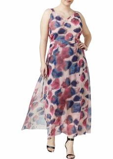 RACHEL Rachel Roy Women's Plus Size Overlap Maxi Dress