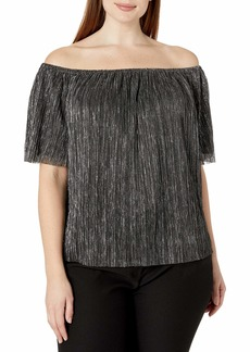 RACHEL Rachel Roy Women's Plus Size Raw Edge Top