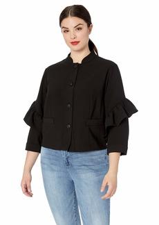 RACHEL Rachel Roy Women's Plus Size Ruffle Jacket