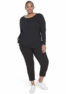 RACHEL Rachel Roy Women's Plus Size Shiva Boatneck Sweatshirt