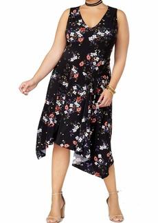 RACHEL Rachel Roy Women's Plus Size V-Neck Daisy Print Dress