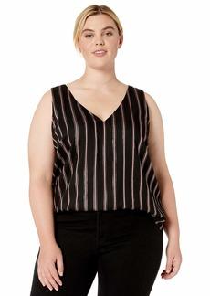 RACHEL Rachel Roy Women's Plus Size Violine Paneled Tank Top