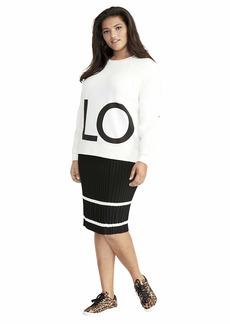 RACHEL Rachel Roy Women's Plus Size Zayda Sweatshirt