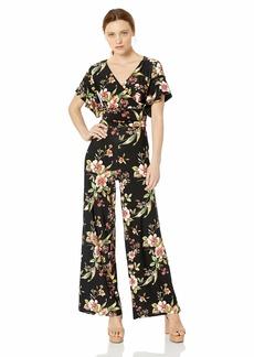 RACHEL Rachel Roy Women's Printed Capri Jumpsuit  L