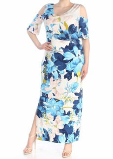 RACHEL Rachel Roy Women's Printed Cold Shoulder Jersey Maxi Dress  L