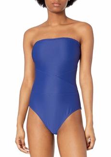 RACHEL Rachel Roy Women's Seamed Bandeau One Piece Swimsuit  M