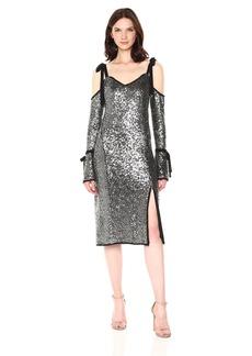 RACHEL Rachel Roy Women's Sequin Bell Sleeve Dress
