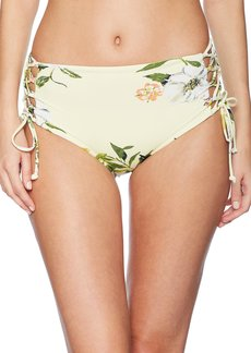 RACHEL Rachel Roy Women's Swim Bottom Hight Waisted Side Laced Full Coverage Detail