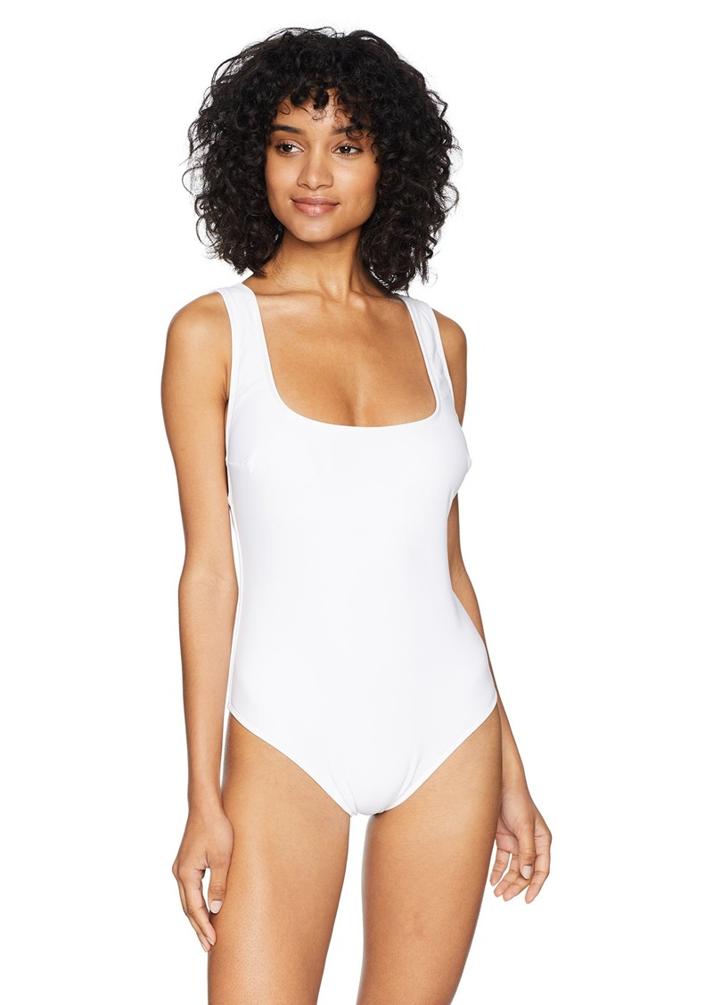 RACHEL Rachel Roy Women's Swim One Piece with Fabric Covered Back Shoulder Straps  Extra Large