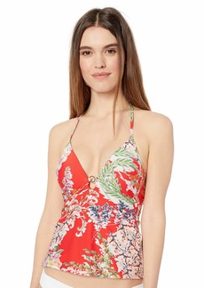 RACHEL Rachel Roy Women's Swim Top Fleur red S
