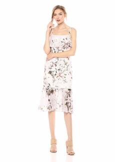 RACHEL Rachel Roy Women's Tiered Printed Lace Midi Dress