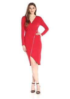 RACHEL Rachel Roy Women's Zip Front Rouche Dress  S