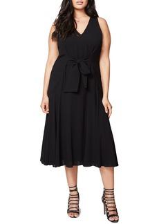 Rachel Roy Claudette Tie Front Midi Dress (Plus Size)