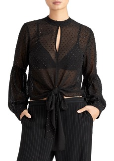 Rachel Roy Collection Bead Detail Sheer Blouse