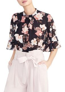Rachel Roy Collection Floral Ruffle Sleeve Blouse