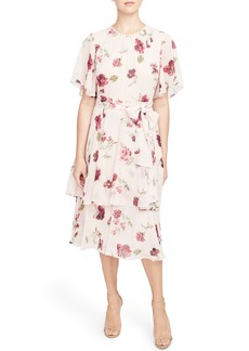 Rachel Roy Collection Floral Tie Waist Dress