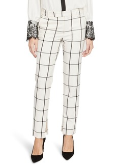 Rachel Roy Collection Grid Pattern Skinny Pants