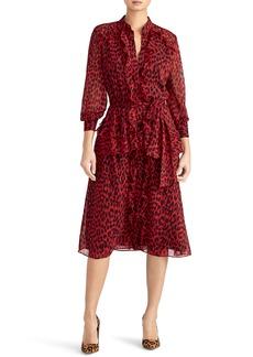 Rachel Roy Collection Leopard Ruffle Dress