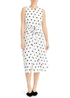 Rachel Roy Collection Polka Dot Sleeveless Midi Dress