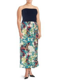 Rachel Roy Floral-Print Strapless Dress