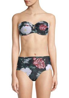 Rachel Roy Floral Tie-Back Bikini Top