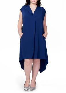 Rachel Roy Harper Handkerchief Hem Midi Dress (Plus Size)