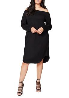 Rachel Roy Off the Shoulder Ponte Dress (Plus Size)