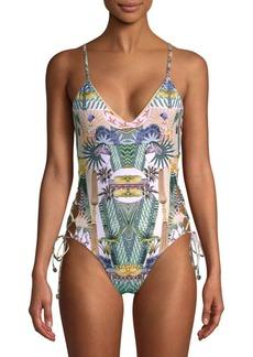 Rachel Roy One-Piece Graphic Swimsuit