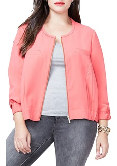 Rachel Roy Zip Front Bomber Jacket (Plus Size)