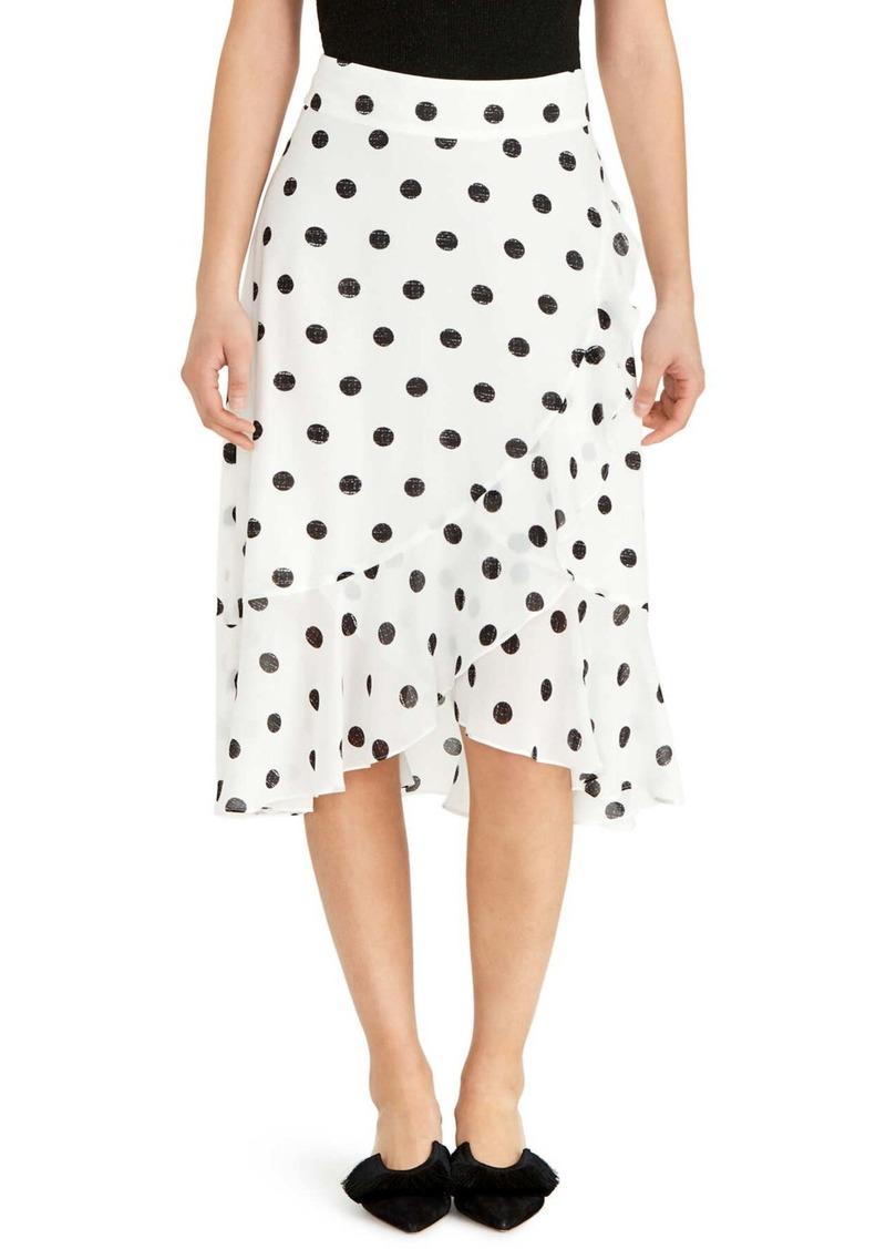 Rachel Roy Ruffle Hem Midi Wrap Skirt