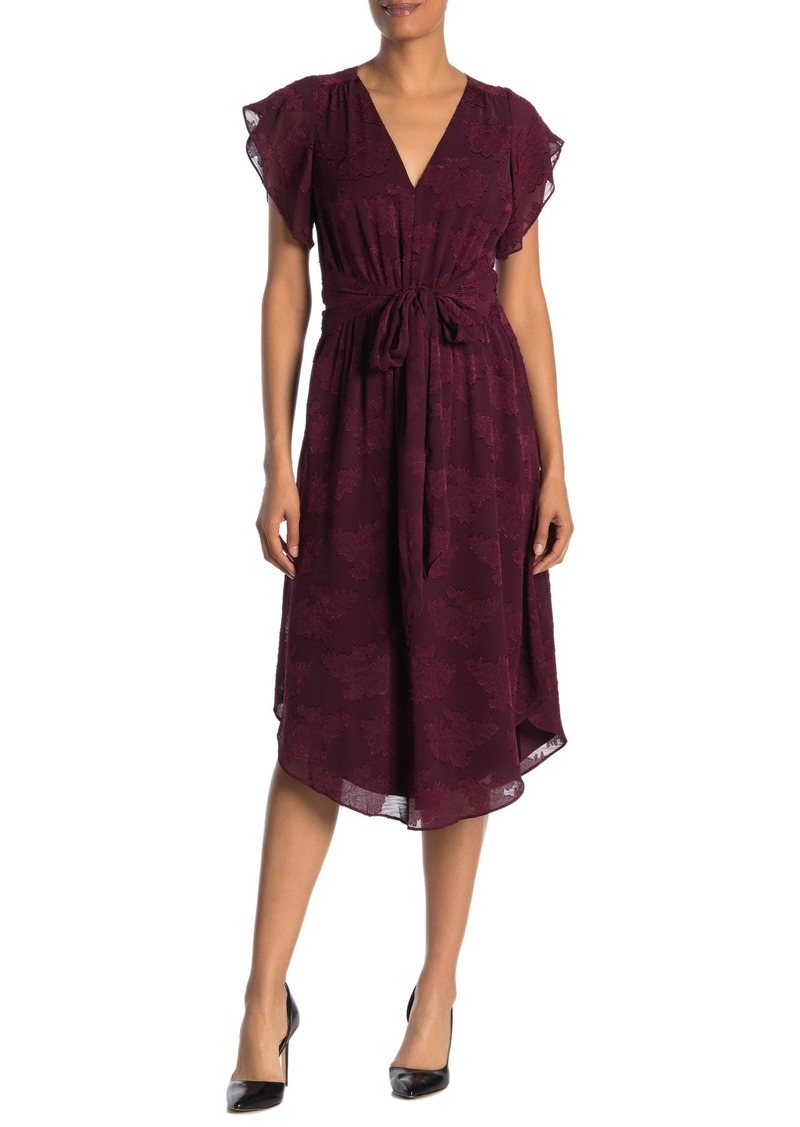 Rachel Roy Sameria Floral Waist Tie Dress