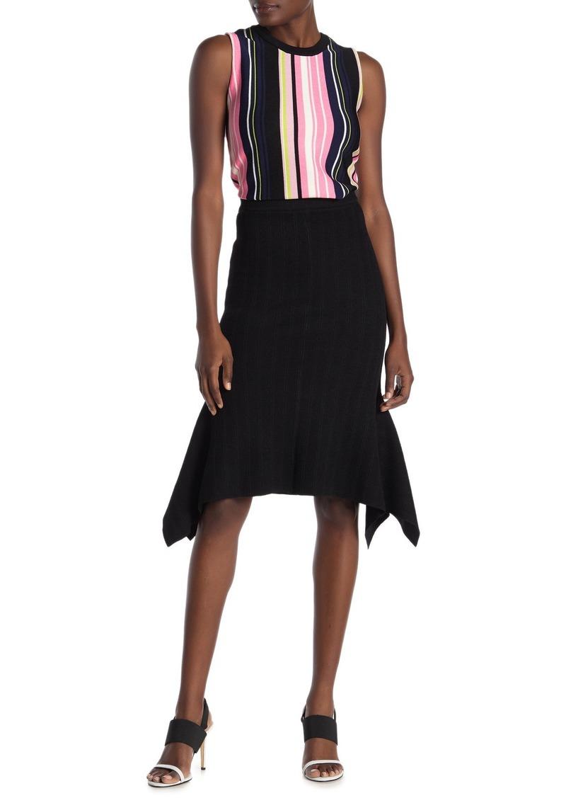 Rachel Roy Solid Handkerchief Hem Knit Skirt