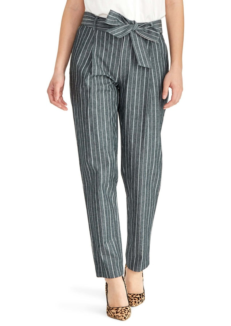 Rachel Roy Stripe Tie Waist Denim Pants