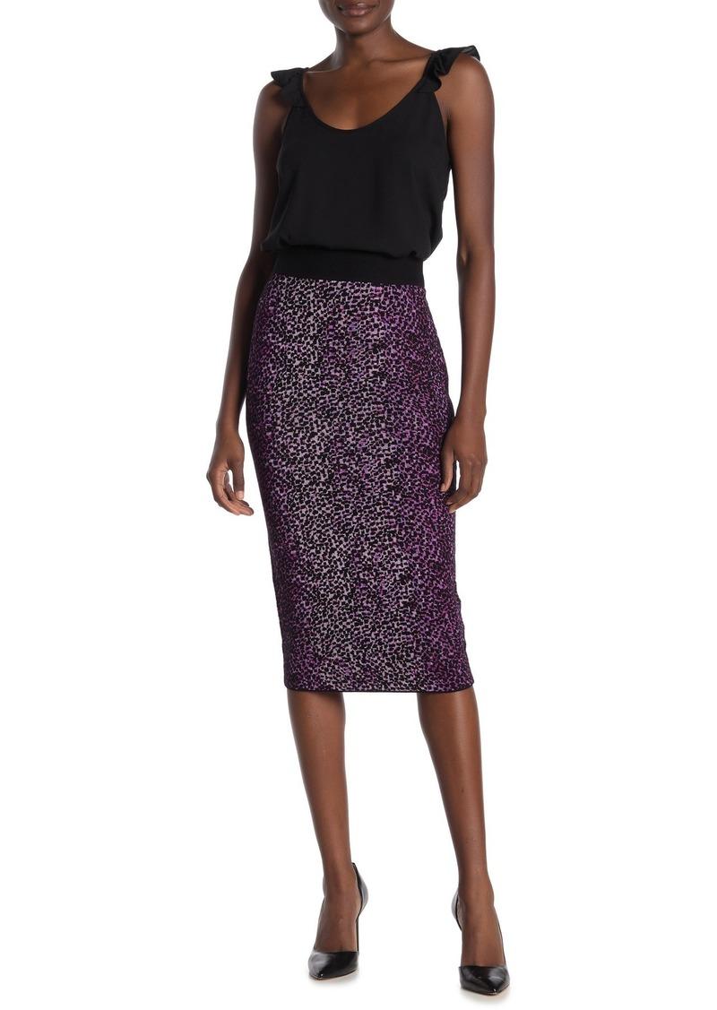 Rachel Roy Tia Cheetah Print Knit Pencil Skirt