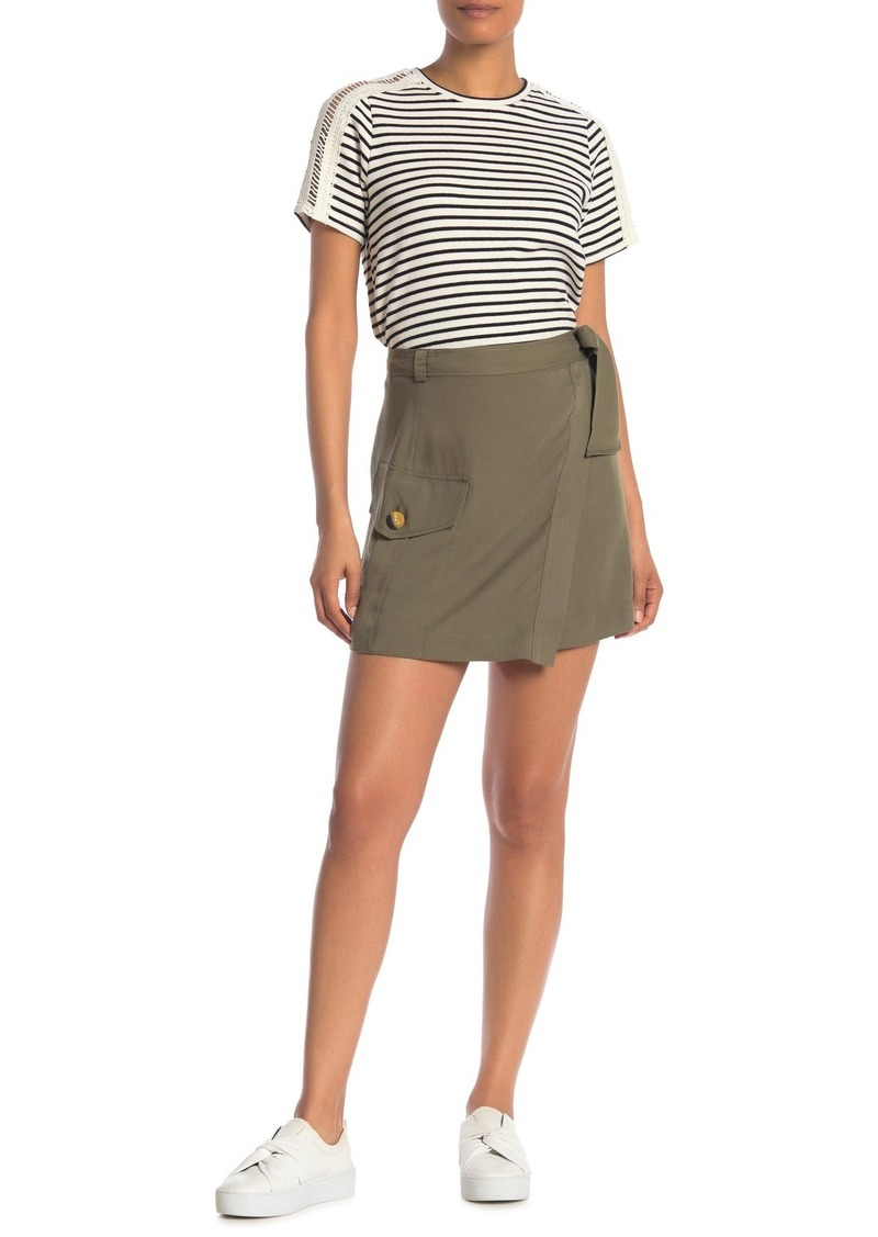 Rachel Roy Utility Waist Tie Mini Skirt