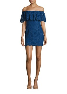 Rachel Zoe Adelyn Off-The-Shoulder Lace Dress