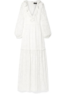 Rachel Zoe Alexis Ruffled Tiered Fil Coupé Silk And Cotton-blend Chiffon Maxi Dress