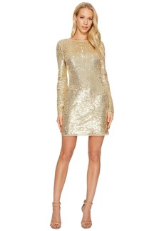 Rachel Zoe All Over Sequin Long Sleeve Racko Dress