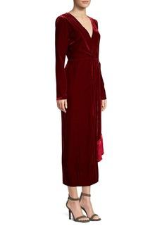 Rachel Zoe Aly Velvet Wrap Dress