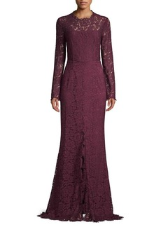 Rachel Zoe Angie Open Back Lace Gown