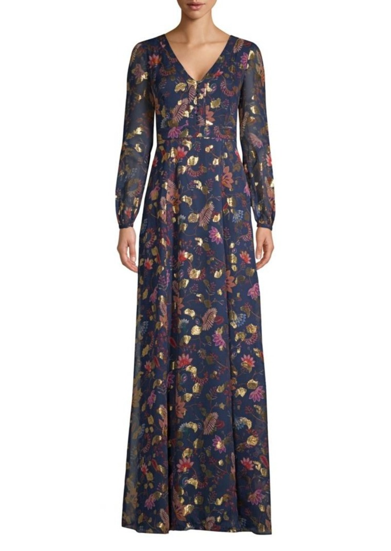 31f635c1176 Rachel Zoe Annabel Metallic Floral Maxi Dress