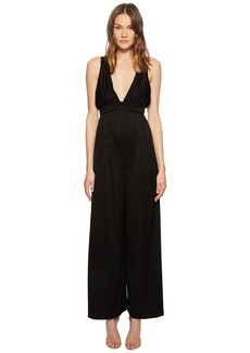 Rachel Zoe Anouk Satin-Backed Crepe Jumpsuit