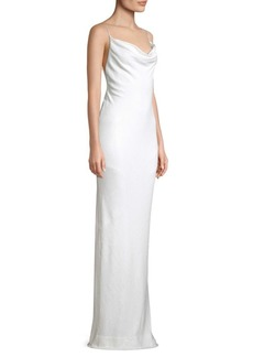Rachel Zoe Bell Cowlneck Open Back Dress