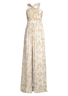 Rachel Zoe Bella Metallic Floral Gown