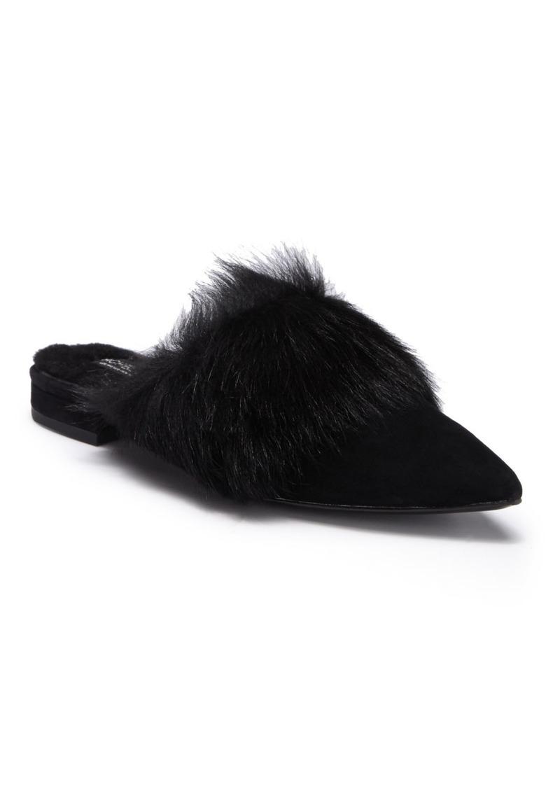 Rachel Zoe Brystole Genuine Sheep Fur Trimmed Mule