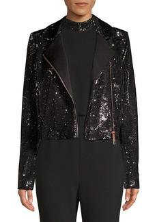 Rachel Zoe Cassie Sequin Moto Jacket