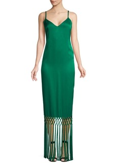 Rachel Zoe Chantelle Sleeveless Fringed Slip Gown
